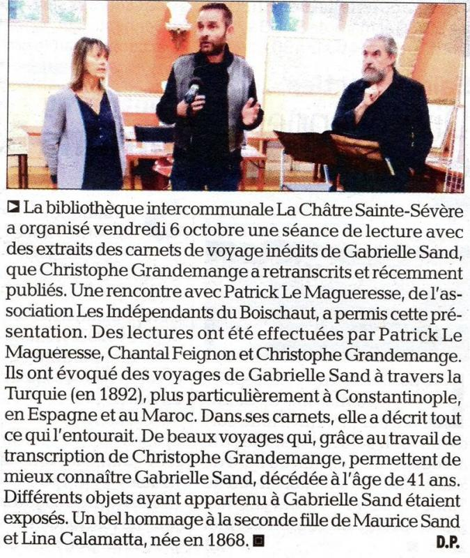Gabrielle Sand - Hôtel de ville de La Châtre