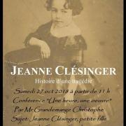 Conférence sur Jeanne Clésinger